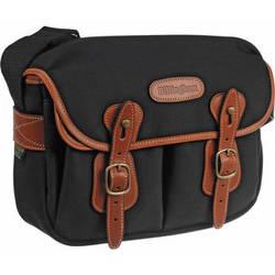 Billingham Hadley Shoulder Bag Small (Black with Tan Leather Trim)