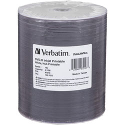 Verbatim DVD-R 4.7GB 16x Inkjet Printable Disc (100-Pack)