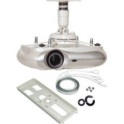 Premier Mounts PBC-UMS Universal Projector Mount with T-Bar Adapter and Quick Locking Cable (White)