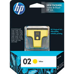 HP 02 Yellow Inkjet Print Cartridge (6ml)