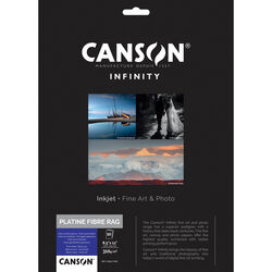 "Canson Infinity Platine Fibre Rag Paper (8.5 x 11"", 10 Sheets)"