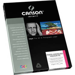 """Canson Infinity Photo HighGloss Premium RC Paper (8.5 x 11"""", 25 Sheets)"""