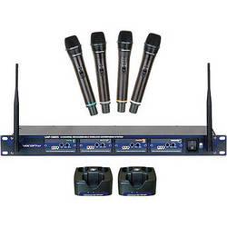 VocoPro UHF-5805 - 4-Channel UHF Wireless Microphone System