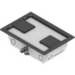 "FSR RFL3-D1G-GRYDD Carpet Trim Cover- Dual Door- 3.25"" Deep Floor Box (Gray)"