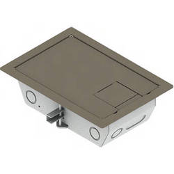 "FSR RFL3-D1G-SLCLY Carpet Trim Cover- Solid Door- 3.25"" Deep Floor Box (Clay)"