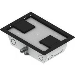 "FSR RFL3-Q1G-BLKDD Carpet Trim Cover- Dual Door- 3.25"" Deep Floor Box (Black)"