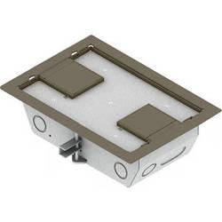 "FSR RFL3-Q1G-CLYDD Carpet Trim Cover- Dual Door- 3.25"" Deep Floor Box (Clay)"