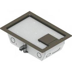 "FSR RFL3-D1G-CLY Carpet Trim Cover- Single Door- 3.25"" Deep Floor Box (Clay)"