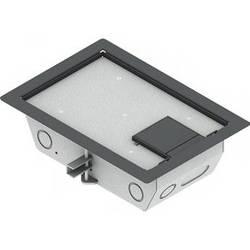"FSR RFL3-D1G-GRY Carpet Trim Cover- Single Door- 3.25"" Deep Floor Box (Gray)"