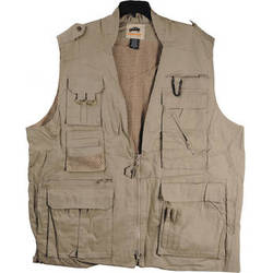 Humvee by CampCo Safari Photo Vest (X-Large, Khaki)