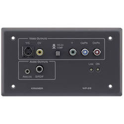 Kramer WP-28-WHITE Active Wall Plate Composite, S-Video, Component Video & Audio Receiver (White)