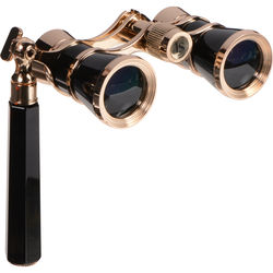 LaScala Optics 3x25 Iolanta Opera Glasses (Black & Gold)
