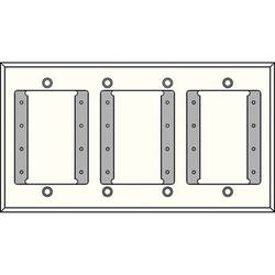 FSR IPS-WP1Q-WHT 4 Gang Wall Plate (White)