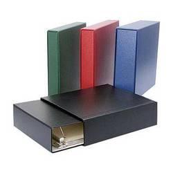 "Archival Methods 18-5316 1.5"" D-Ring Matching Binder Slip Case Set (Navy Blue)"