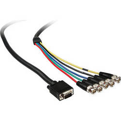 Comprehensive VGA 15-pin (HD15) Male to 5 BNC Cable - 15'