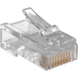 C2G 01942 RJ45 Cat5 8 x 8 Modular Plug for Solid Flat Cable