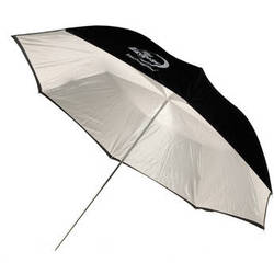 "Photogenic Umbrella - ""Eclipse"" White, Black Cover - 60"""