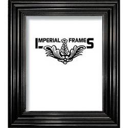 "Imperial Frames Model F326, Nuveau Wood Picture Frame - 13 x 19""  (Black)"