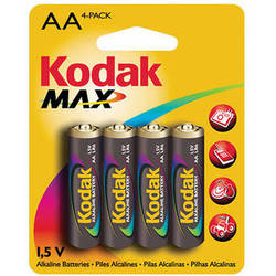 Kodak AA 1.5V Alkaline Batteries (4-Pack)