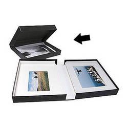 """Archival Methods Onyx Portfolio Box - 11.25 x 14.25 x 2"""" - Black Buckram/Black"""