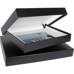 """Archival Methods 20.25 x 24.25 x 1.37"""" Onyx Portfolio Box (Black Buckram with White Lining)"""