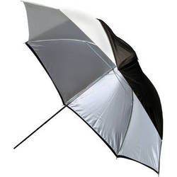 "Photogenic Umbrella, White - 45"" with Removable Black Cover"