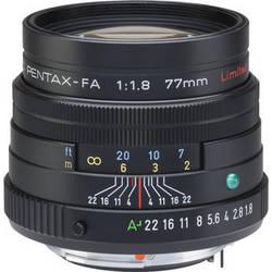 Pentax Telephoto SMCP-FA 77mm f/1.8 Limited Series Autofocus Lens (Black)