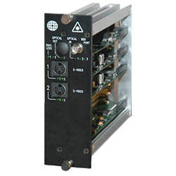 Meridian Technologies DR-2S-3FC Dual Slot Fiber Optic S-Video Receiver