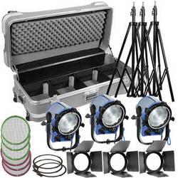 Arri T1 Fresnel 1000W 3-Light Kit (220V)