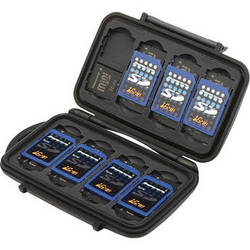 Pelican 0910 Memory Card Case for Eight SD and 16 Mini SD Memory Cards (Black)