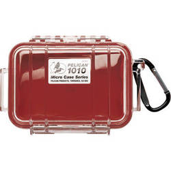 Pelican 1010 Micro Case (Clear Red with Colored Lining)