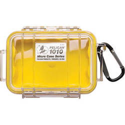 Pelican 1010 Micro Case (Clear Yellow with Colored Lining)