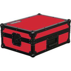 Odyssey Innovative Designs FR12MIXBKRED Flight Ready DJ Mixer Case (Black and Red)