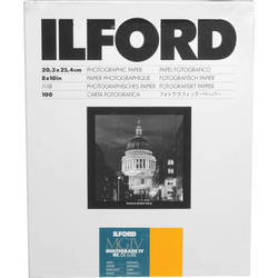 "Ilford Multigrade IV RC Deluxe MGD.25M Black & White Variable Contrast Paper (8 x 10"", Satin, 100 Sheets)"