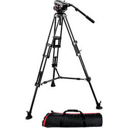 Manfrotto 504HD Head with 546B 2-Stage Aluminum Tripod System