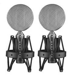 Cascade Microphones FAT HEAD Ribbon Microphones (Black Body and Silver Grill, Stock Transformer, Pair)