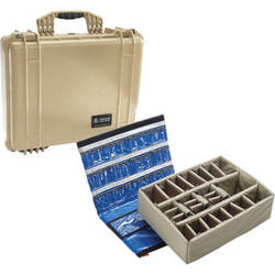 Pelican 1550 EMS Case with Organizer and Dividers (Desert Tan)
