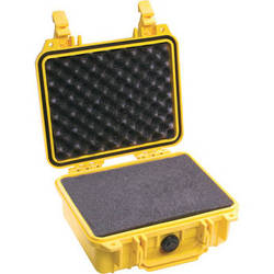 Pelican 1200 Case with Foam (Yellow)