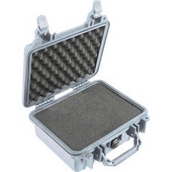 Pelican 1200 Case with Foam (Silver)