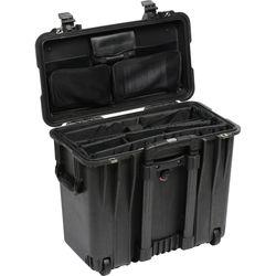 Pelican 1447 Top Loader 1440 Case with Office Divider (Black)