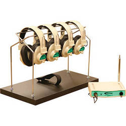 Califone CLS729-4 4-User Wireless Listening System (Green Frequency, 72.9 MHz)