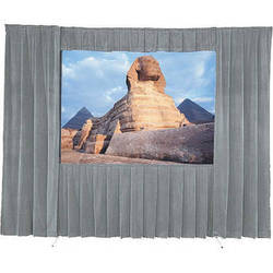 Da-Lite 36540GRP Drapery Kit With Drapery Bar (9 x 9', Gray)