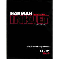 """Harman By Hahnemuhle Matte Cotton Smooth Inkjet Paper (300gsm, 8.5 x 11"""", Letter, 30 Sheets)"""