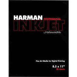 """Harman By Hahnemuhle Gloss Art Fibre Warmtone Paper (8.5 x 11"""", 30 Sheets)"""