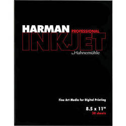 "Harman By Hahnemuhle Gloss Baryta Inkjet Paper (8.5 x 11"" , 30 Sheets)"