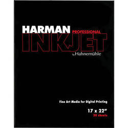 "Harman By Hahnemuhle Gloss Baryta Inkjet Paper (17 x 22"" , 30 Sheets)"