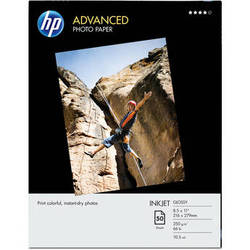 "HP Advanced Inkjet Photo Paper Glossy (L) 8.5x11"" - 50 Sheets"