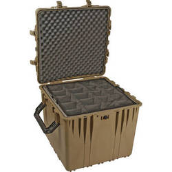 "Pelican 0374 24"" 0370 Cube Case with Padded Dividers (Desert Tan)"