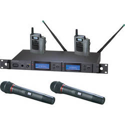 Audio-Technica 5000 Series AEW-5414aC UHF Dual Wireless Bodypack & Handheld Cardioid Dynamic Microphone Combo System (Band C)