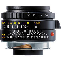 Leica 35mm f/2.0 Summicron M Aspherical Manual Focus Lens (6-Bit) - Black